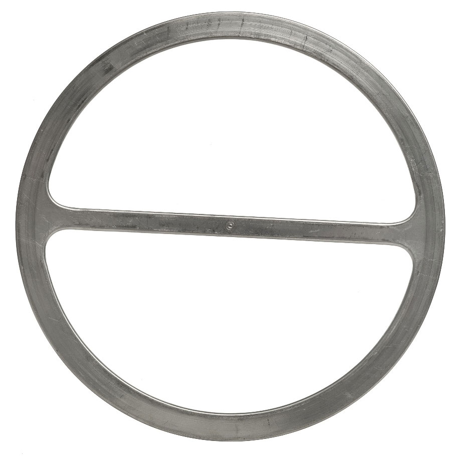 A Metal-jacketed gasket withstands a very high surface pressure in order to work. The gasket molds well.